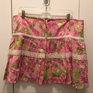 Lilly Pulitzer Musical Monkey Pink and Green Skirt